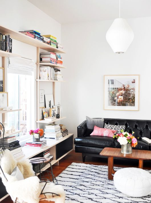 great shelving & mix of details