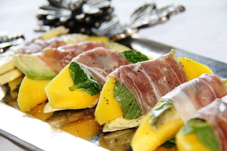 proscuitto wrapped mango bites...Top 10 DIY Party Food Ideas