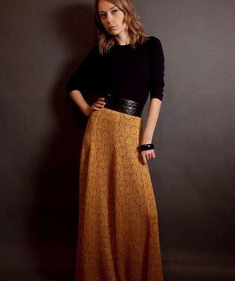 Описание осенней юбки