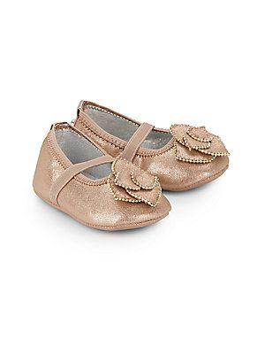 Baby's Rosette Studded Ballet Flats