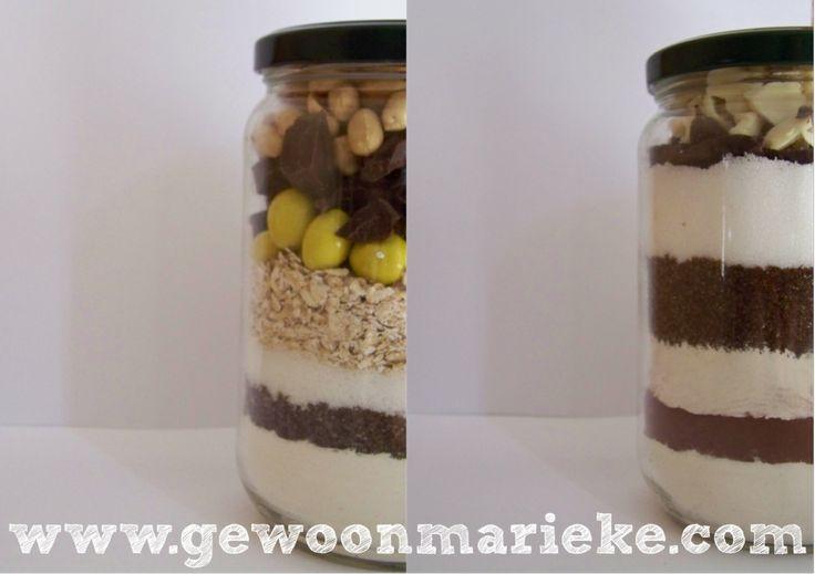 Pot vol koekjes & pot vol brownies + tips voor het vullen