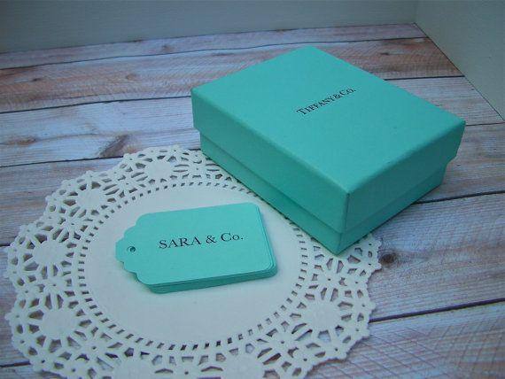 Printed Message TIFFANY BLUE Gift Tags, Tiffany Blue Hang Tag, Tiffany ...