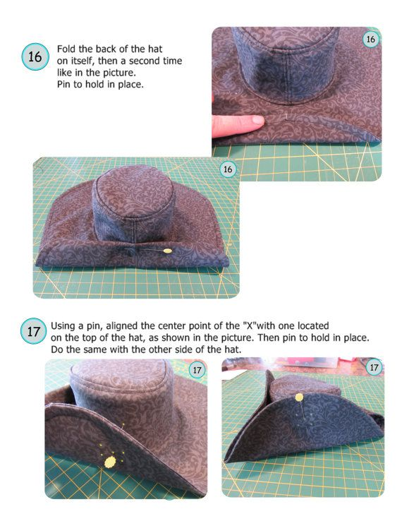 Pirate hat PDF pattern English 3 sizes included par Evelune