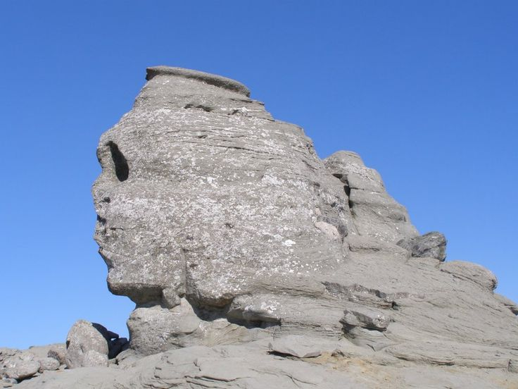 Our very own Sphinx - a strange rock formation on top of the Bucegi mountains, Romania