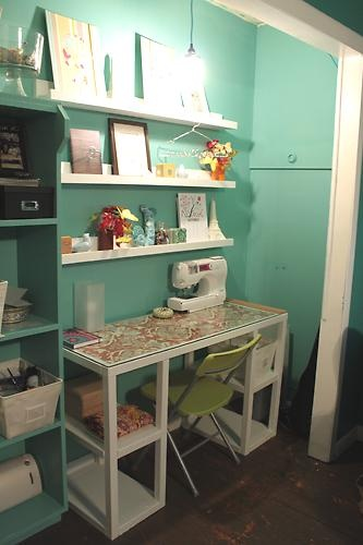 craft nookGuest Room, Ideas, Bedrooms Closets, Crafts Area, Closets Offices, Crafts Room, Sewing Closets, Crafts Closets, Craft Rooms