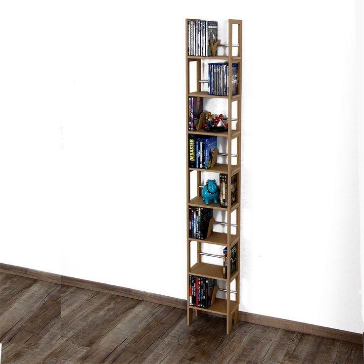 30 cm breiter Blu-ray und DVD Ständer 180 cm hoch