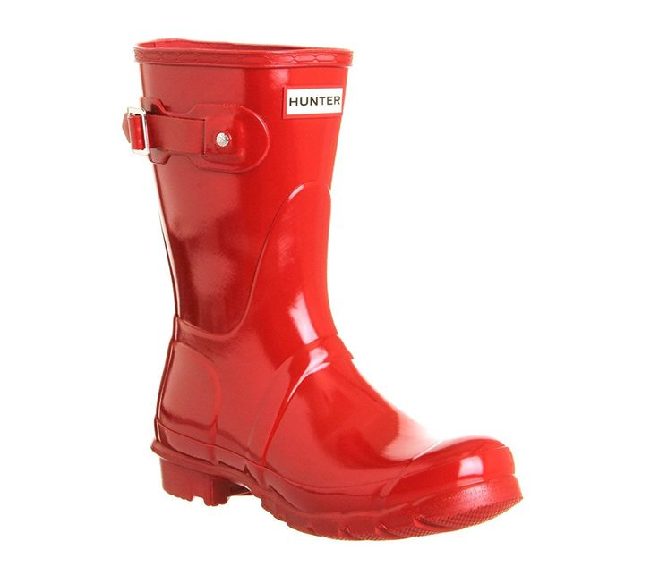 Hunter Original Short Gloss Womens Boots - WFS1000RGL GRA ** Discover this special boots, click the image : Rain boots