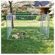 Large Dog Kennel 10 x 10 x 4ft.. The Large Dog Kennel is a very popular home for dogs as it has a nice run space for a house and also for the dog to have room to have a bit of a run around. The size of the run is 10ft long x 10ft wide x 4ft high.