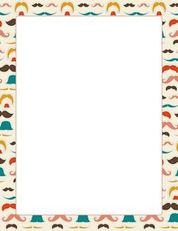 Mustache Border | Stationery borders | Page borders ...
