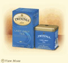 Twinings Lady Grey Tea - One of my standby bagged teas. I always have a few of these teabags on hand.