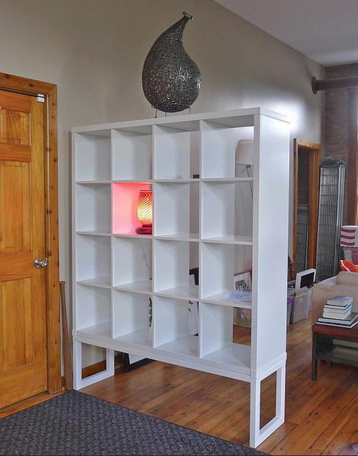 952 best images about organize with ikea expedit kallax bookcases group board on pinterest - Ikea shelf room divider ...