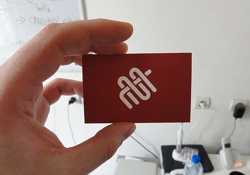 """Logotype and Business cards design for """"La Manufacture du 37 bis"""" a tapestry formation center - by Clement Oriol #letterpress #print #design #tapestry #identity"""