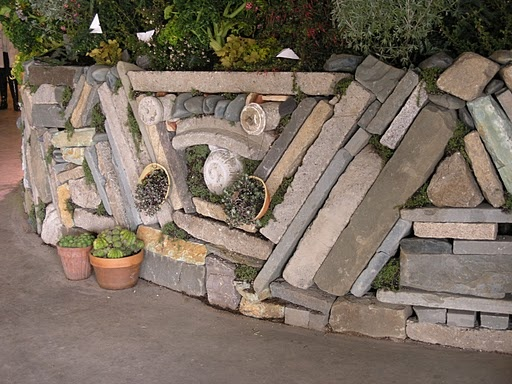 mixed stone wall
