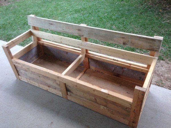 skid furniture ideas. patio chair u0026 storage box made with pallets pallet furniturepallet skid furniture ideas