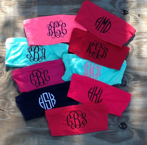 Monogrammed Bandeau Swim Top We do not have all by craftsbygigi, $25.00