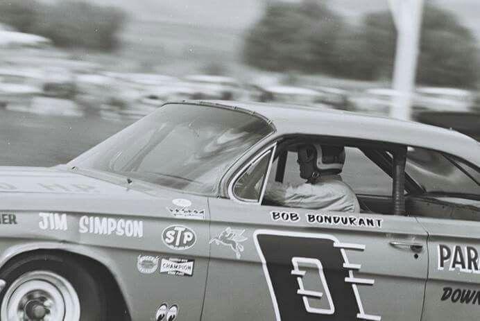 Bob Bondurant 62 Impala at Riverside 1963
