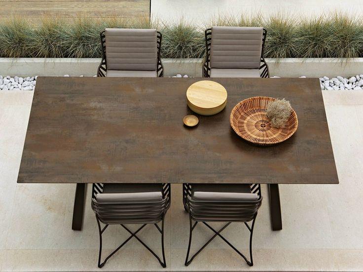 Tavolo da giardino rettangolare in HPL HAMPTONS GRAPHICS | Tavolo in HPL - Roberti Rattan