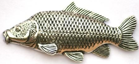 Common Carp Pewter Pin Badge Great Fishing Gift