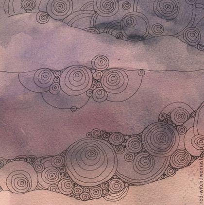 Символизм ручной работы. Мягкая Осень. , небо, подарок, тушь