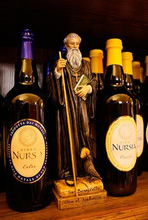 """""""If the prayer doesn't come first, the beer is going to suffer,"""" said Fr. Benedict Nivakoff, director of the Birra Nursia brewery and subprior of the monastery."""