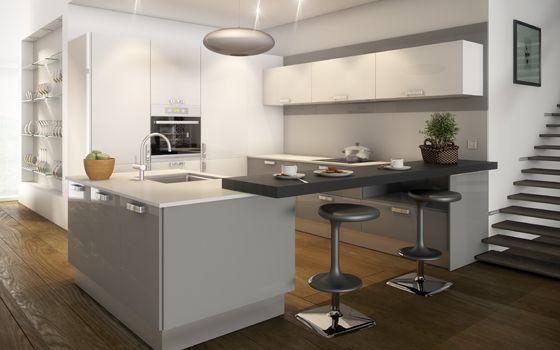 Las 25 mejores ideas sobre cocinas de color gris claro en for Cocinas en color gris claro