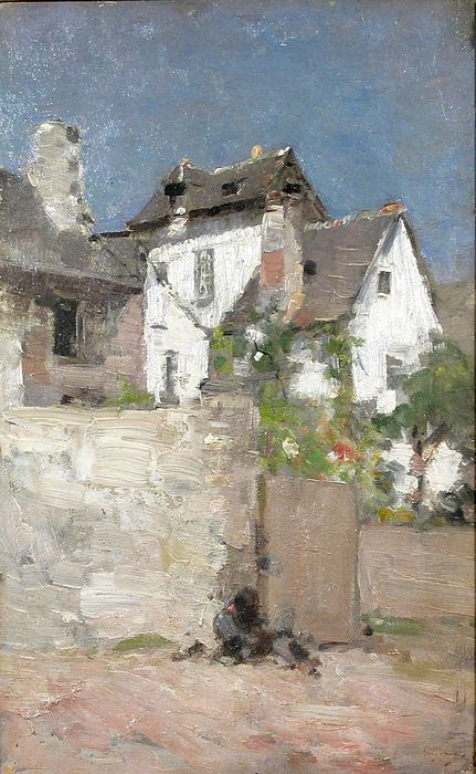 Nicolae Grigorescu Nicolae Grigorescu -  was one of the founders of modern Romanian painting. Biography[edit] ... However, he soon left this workshop and, attracted by the artistic concepts of the Barbizon school, he left Paris for that village, where he ... and followed the trend of en plein air painting, which was also important in Impressionism.