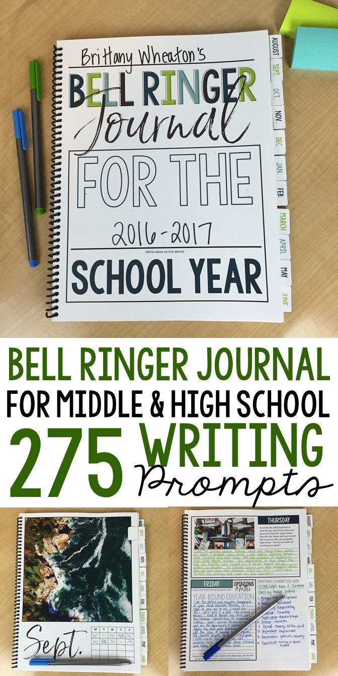 Bell ringer journal prompts | 275 writing entries | middle and high school ELA