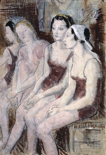 Dame Laura Knight - Diaghilev Ballet.