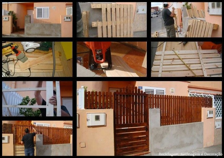 how to make fence panels from pallets