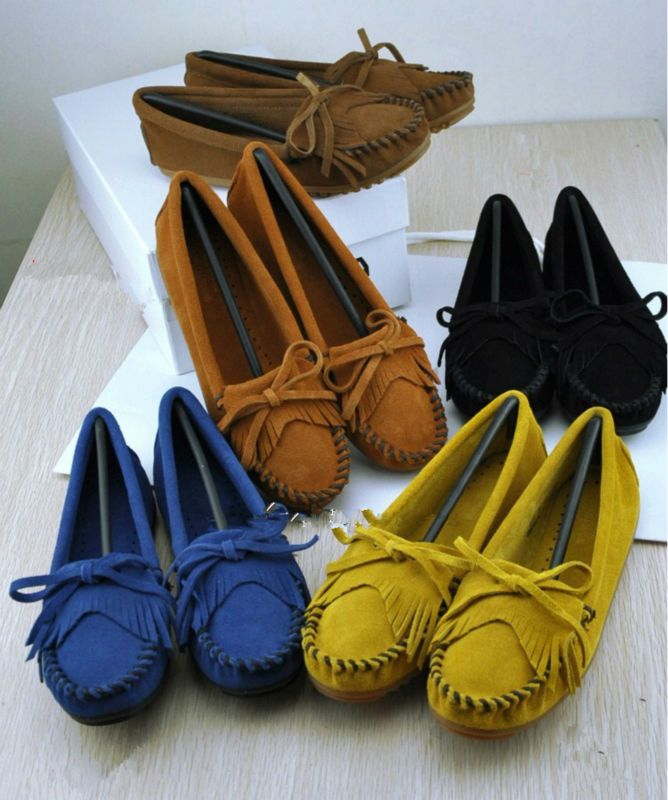 Free Shipping NEW US5 9 Leather suede Comfort Slip On Fringe loafer flat ballerina Women Shoes woman flat shoes driving shoes-in Boots from Shoes on Aliexpress.com | Alibaba Group