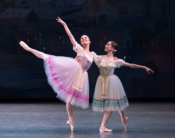 "Lauren King and Rebecca Krohn in George Balanchine's ""Bournonville Divertissements"""
