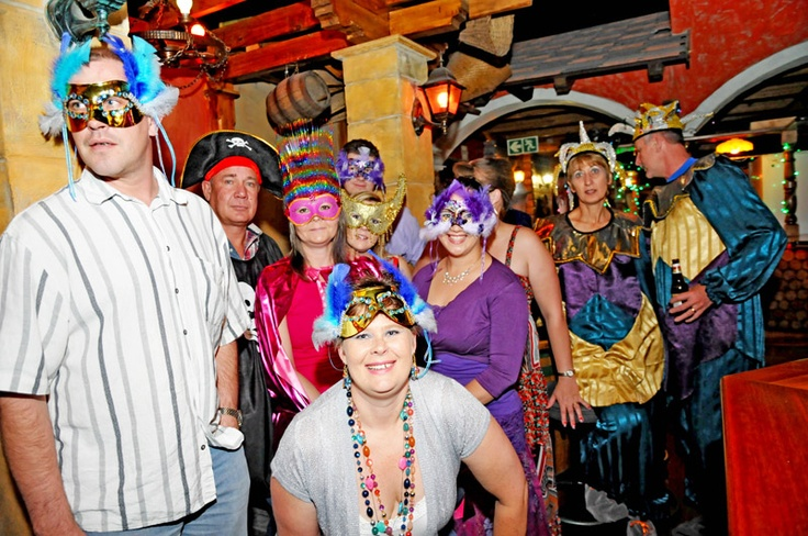 Mardi gras theme Company year end function Dress up