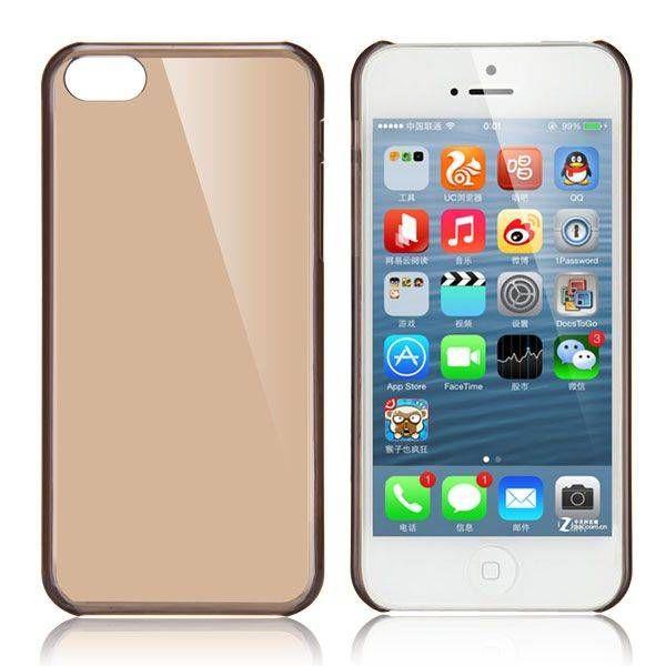 Zwart / transparant hardcase hoesje iPhone 5C