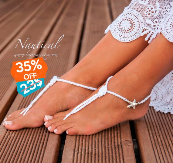 Nautical Bridal Foot jewelry Starfish Beach wedding Barefoot