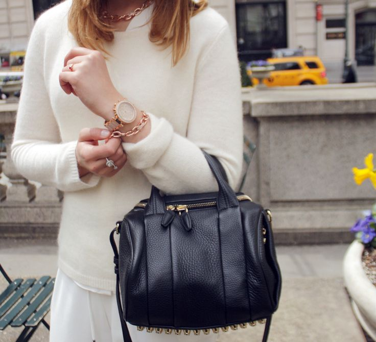 Details #alexanderwang bag #michaelkors watch #ralphlauren bracelet and necklace #ELLINORSANDE