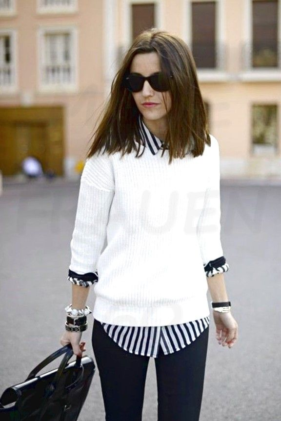 White T-Shirt: 10 ways to combine it in a cool way! , #types #coole #combining #shirt