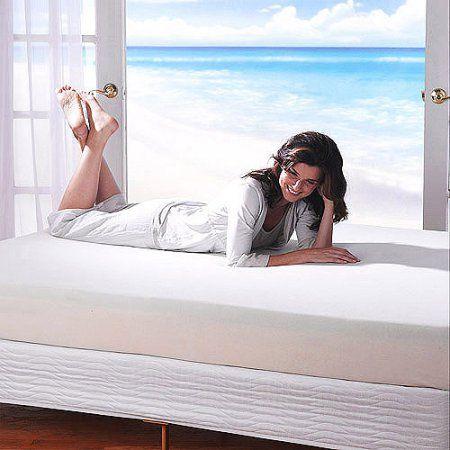 Spa Sensations 8 inch Memory Foam Mattress, White
