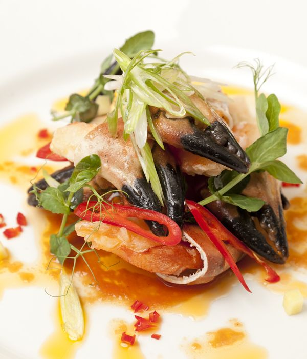 A crab claws recipe with vibrant notes of chilli, coriander and ginger, Andy Waters' sublime seafood dish has all the makings of an Asian-inspired dinner party classic.