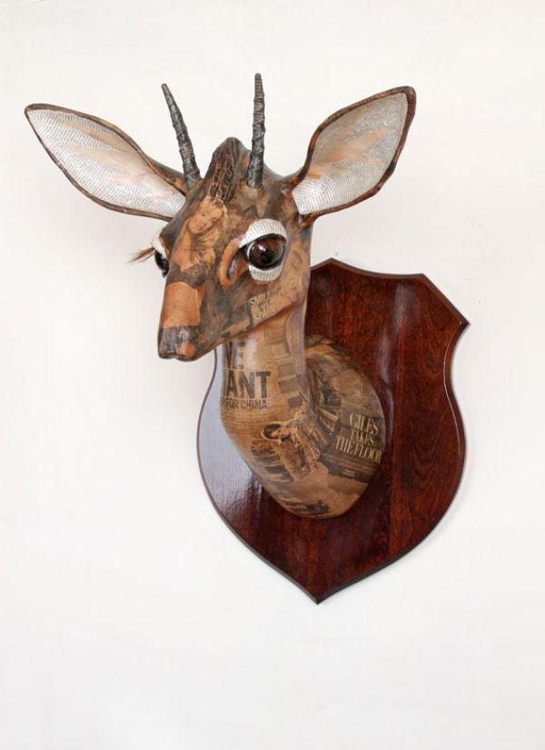 Kirks Dik Dik (Papier Mache Wall Mounted African Antelope Head Masks)