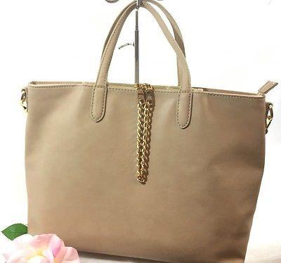 Beige Large Satchel Handbag Converts Cross Body  Design by KG&B