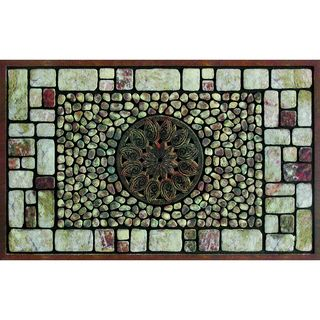 """Shop for Outdoor Notre Dame Greystone Doormat (18"""" x 30""""). Free Shipping on…"""