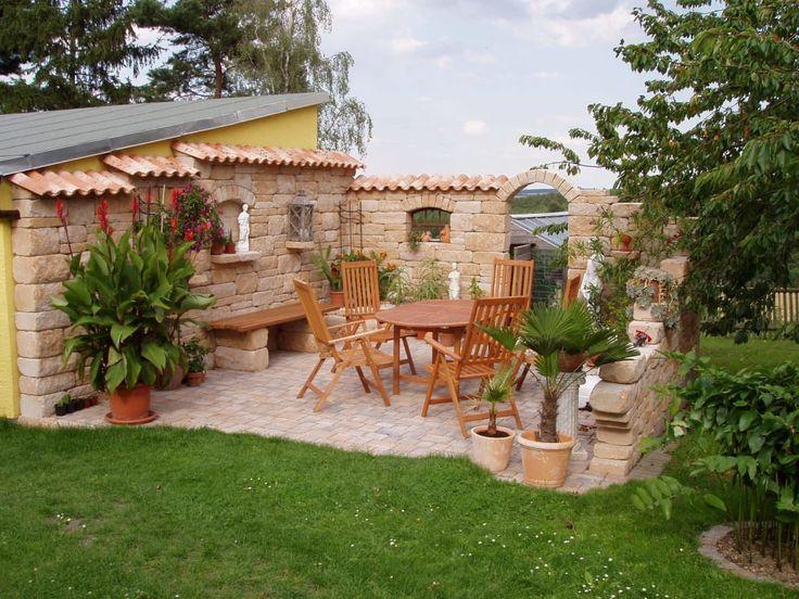 7 besten Garten Bilder auf Pinterest Gärten, Alte fenster und - steinmauer garten mediterran