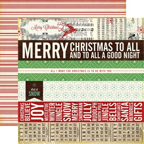 Echo Park - Reflections Collection - Christmas - 12 x 12 Double Sided Paper - Border Strips at Scrapbook.com