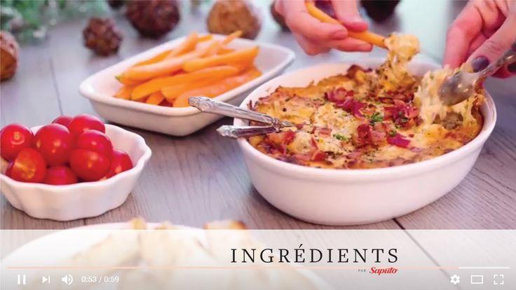 Trempette chaude au fromage Cheddar, bacon et oignons caramélisés | Ingr...