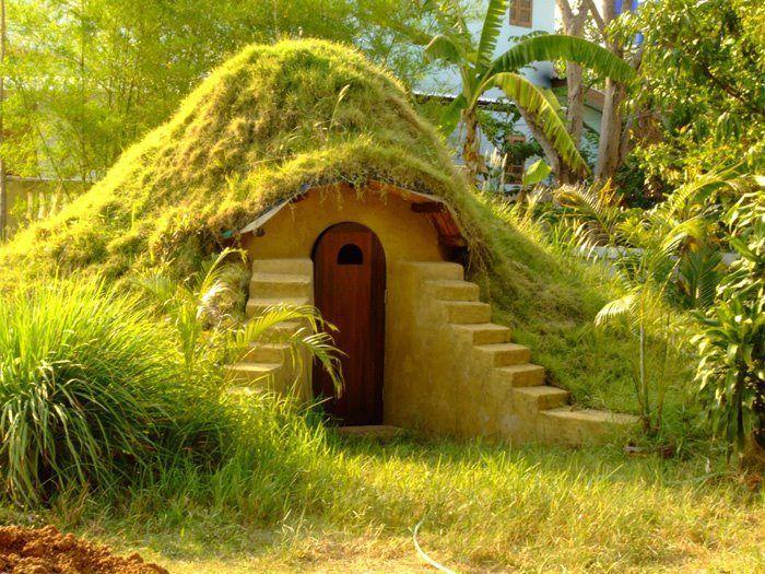 cob house - green roof