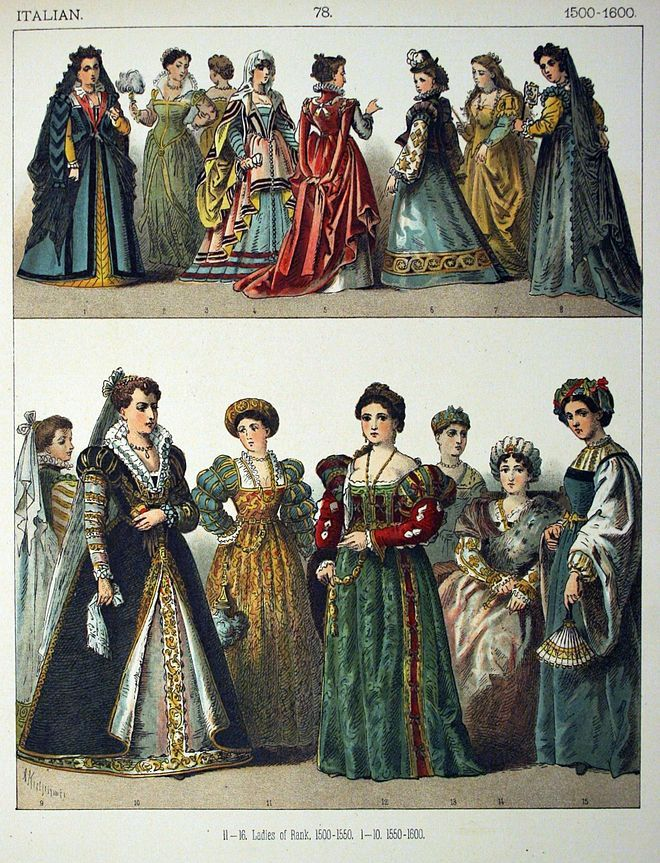 Itáliai viselet 1500 1600 | Italienische outfits