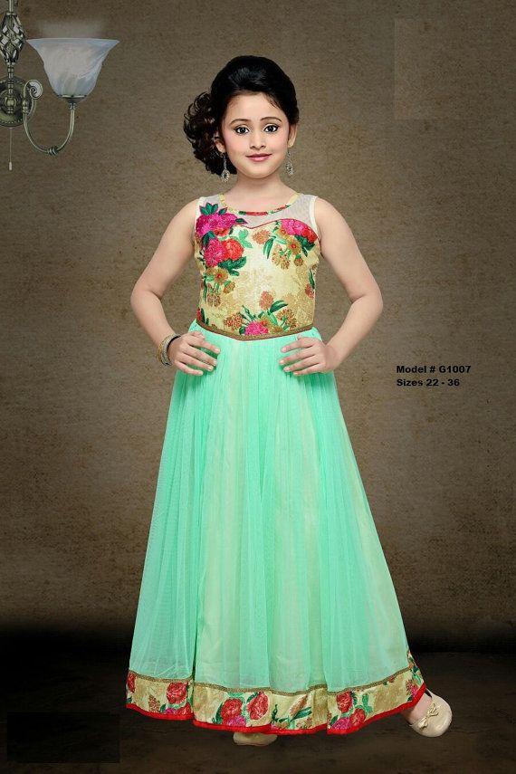 Kids girls Indian Pakistani Asian Ethnic by Varshinicollections