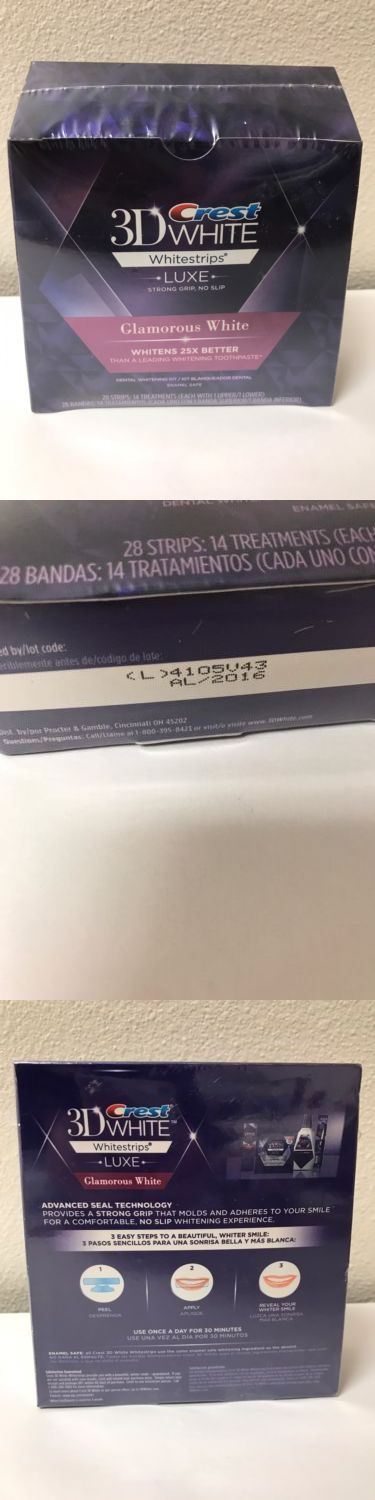 Whitening: Crest 3D Advanced Vivid Whitestrips White Strip Crest Luxe Glamorous - 2016 BUY IT NOW ONLY: $32.0