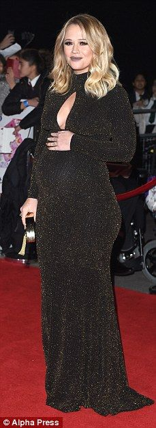 All-stars: Pregnant Kimberley Walsh was joined by Michelle Keegan, Alesha Dixon and Nicole...