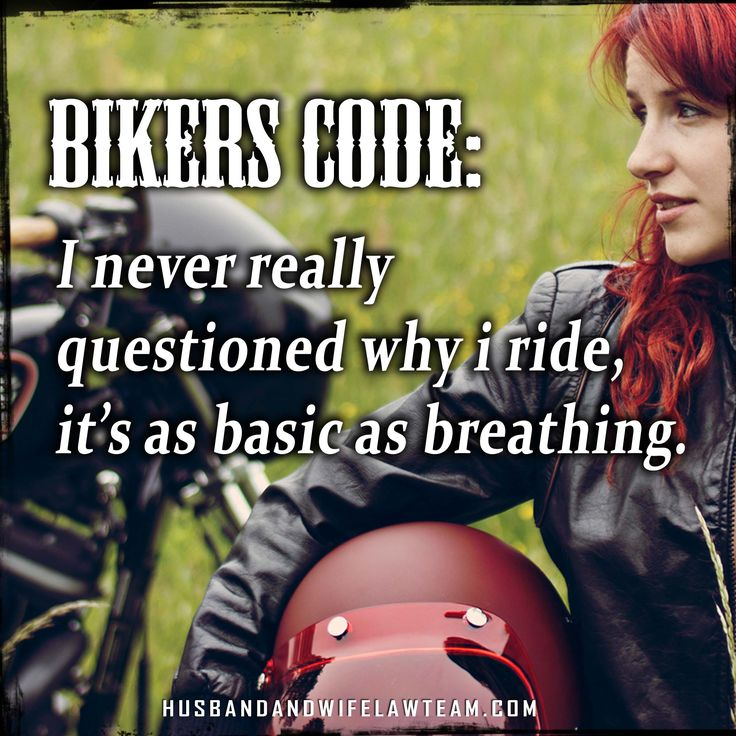 What is your personal #biker code? I think it's all about #motorcycles and #freedom.
